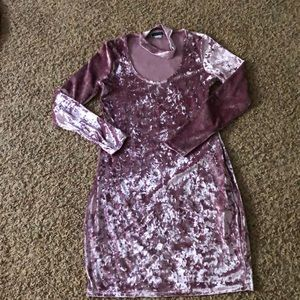 Another Story Velour Dress